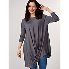 Yong Kim Drape Front Long Sleeve Tunic