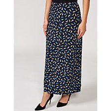 Kim & Co Mini Brush Strokes Brazil Knit Maxi Skirt