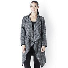 Centigrade Tweed Waterfall Coat