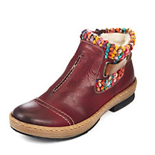 Rieker Warm Lined Ankle Boot w/ Multi Coloured Knit Detail