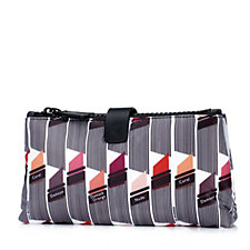 Lulu Guinness Lipstick Print Double Makeup Bag