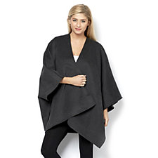 Centigrade Double Face Throw-Over Drape Front Cape