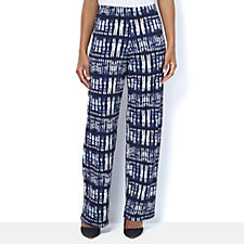 Marble Printed Palazzo Trouser with Elasticated Waist