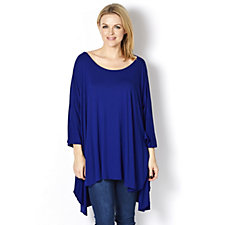 Join Clothes Round Neck Grown On Sleeve Longline Jersey Dip Back Tunic