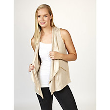 Lightweight Faux Suede Gilet with Pockets by Susan Graver