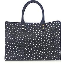 Lulu Guinness Daphne Medium Mini Lip Print Leather Tote Bag