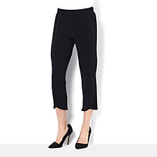 Cropped Trousers with Elasticated Waist by Nina Leonard