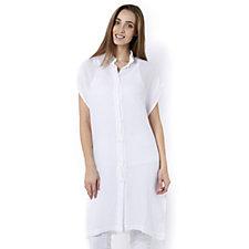 Join Clothes Soft Cotton Button Through Long Line Shirt