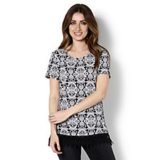 Short Sleeve Round Neck Tunic by Nina Leonard