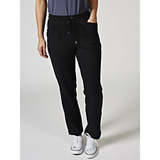 Isaac Mizrahi Live Soho Petite Brushed Back Fleece Trousers
