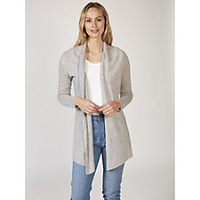 In Cashmere Longline Edge to Edge Cardigan