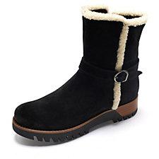Manas Sheepskin Trim Ankle Boot