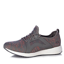 Skechers Bobs Squad Glossy Finish Engineered Knit Lace Up Trainer