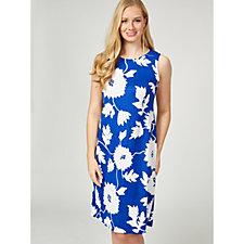 Ronni Nicole Sleeveless Puff Printed Sheath Dress