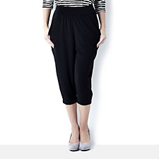 139022 - Kim & Co Brazil Knit Crop Trouser with Pocket Detail