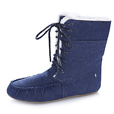 160122 - Emu Brooklyn Denim Slipper Boots