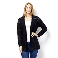Marble Edge to Edge Pointelle Feather Cardigan