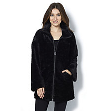 Centigrade Astrakhan Zip Up Faux Fur Jacket