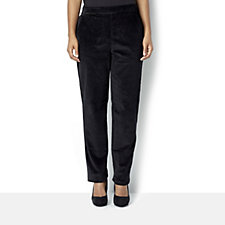 Denim & Co. Classic Waist Slim Leg Trouser