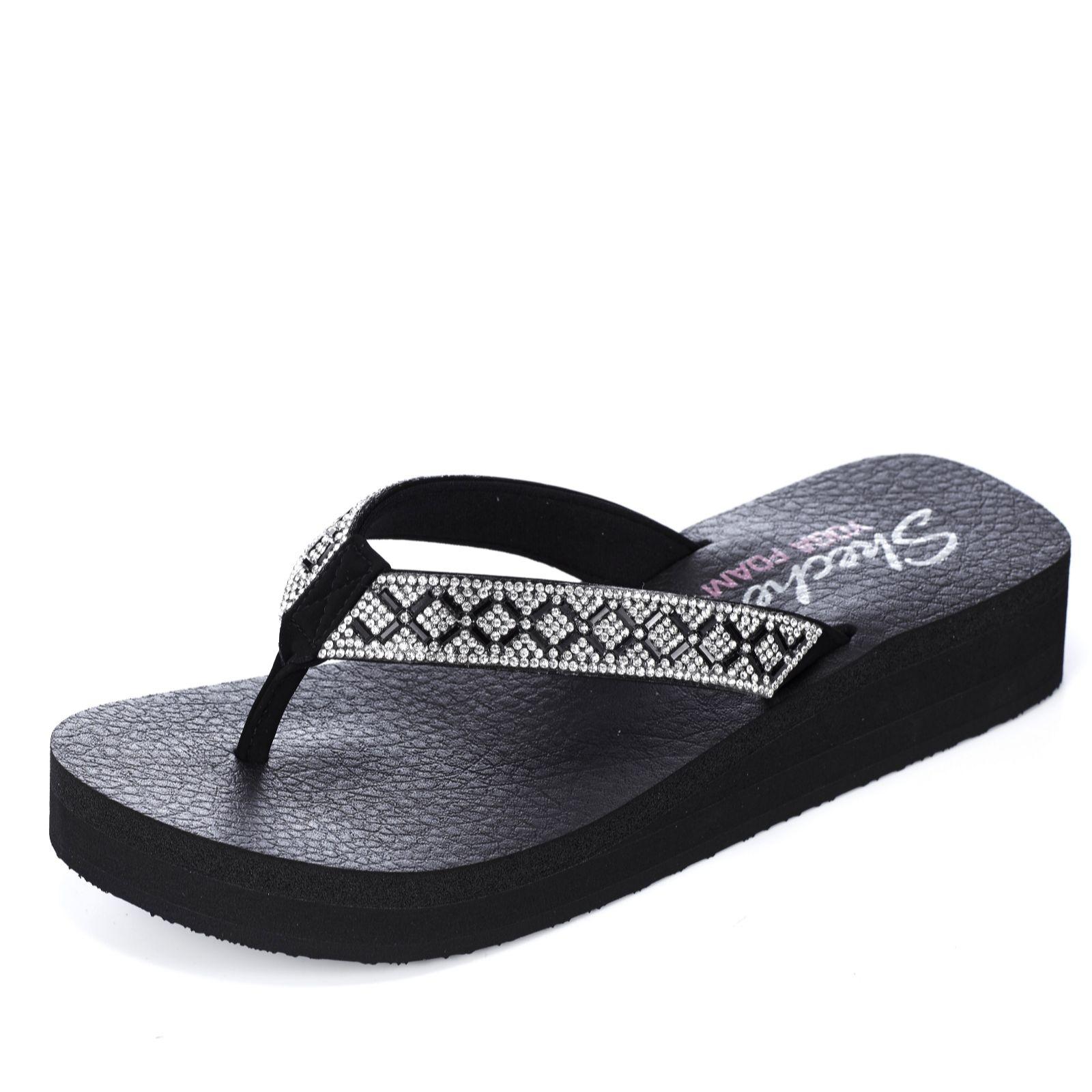skechers yoga mat sandals. skechers vinyasa criss cross platform flip flop with yoga foam - qvc uk mat sandals