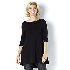 Join Clothes 3/4 Sleeve Dip Back Tunic