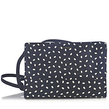 Lulu Guinness Daphne Mini Lip Print Leather Crossbody Bag