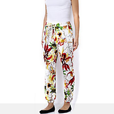 Nick Verreos Printed Jersey Relaxed Fit Trouser