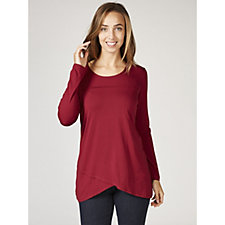 Mr Max Round Neck Cross Over Hem Long Sleeve Jersey Tunic