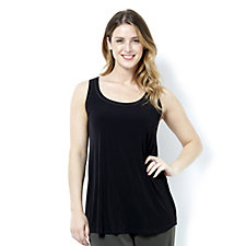 Kim & Co Brazil Knit Sleeveless Tunic with Contrast Stitching