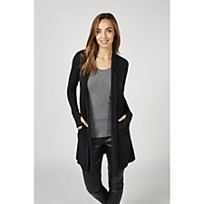 Cuddl Duds Softwear Cinched Back Front Button Cardigan