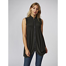 Yong Kim Stretch Zip Front & Pocket Detail Duster