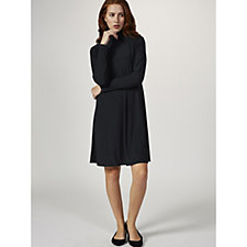 Coco Bianco Long Sleeve High Neck Shift Dress