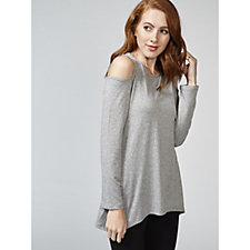 Mr Max Melange Knit Cold Shoulder Tunic
