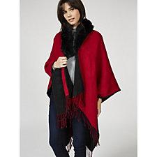 Pia Rossini Aleigh Reversible Wrap Detachable Faux Fur Trim