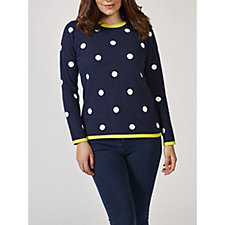 Marble Round Neck Spot Sweater