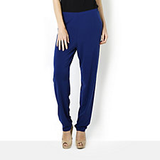 Kim & Co Brazil Knit Relaxed Trouser with Pleated Detail