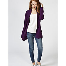 Edge to Edge Knitted Jacket with Zip Pockets by Michele Hope