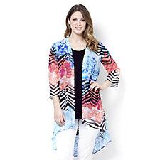 Antthony Designs High-Low Chiffon Kimono Jacket