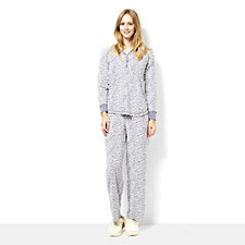 161123 - Carole Hochman Micro Fleece Henley Top PJ Trouser Set