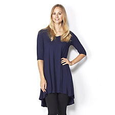 Join Clothes Jersey Short Sleeve Tunic with Godet Back Detail