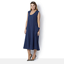 Join Clothes Sleeveless with Patch Pocket Dress