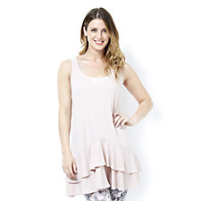 Kim & Co Brazil Knit Double Frill Tunic Dress