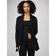 170223 - Anybody French Terry Drape Front Cardigan