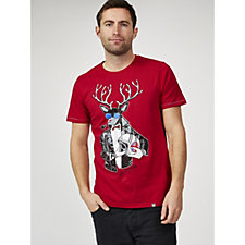 Joe Browns Men's Biker Dolph Christmas T Shirt
