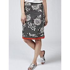 Joe Browns Printed Skirt with Contrast Lace Hem