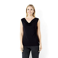 Attitudes by Renee Drape Neck Sleeveless Top
