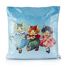 Butler & Wilson Happy Cats Sequin Cushion