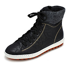 Rieker High Top Lace Up Trainer
