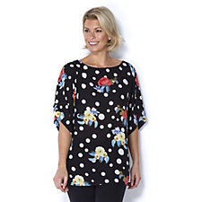 Butler & Wilson Kimono Style Polka Dots Flower Top