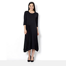 Yong Kim Jersey Maxi Dress with Elasticated Pocket and Hem Detail